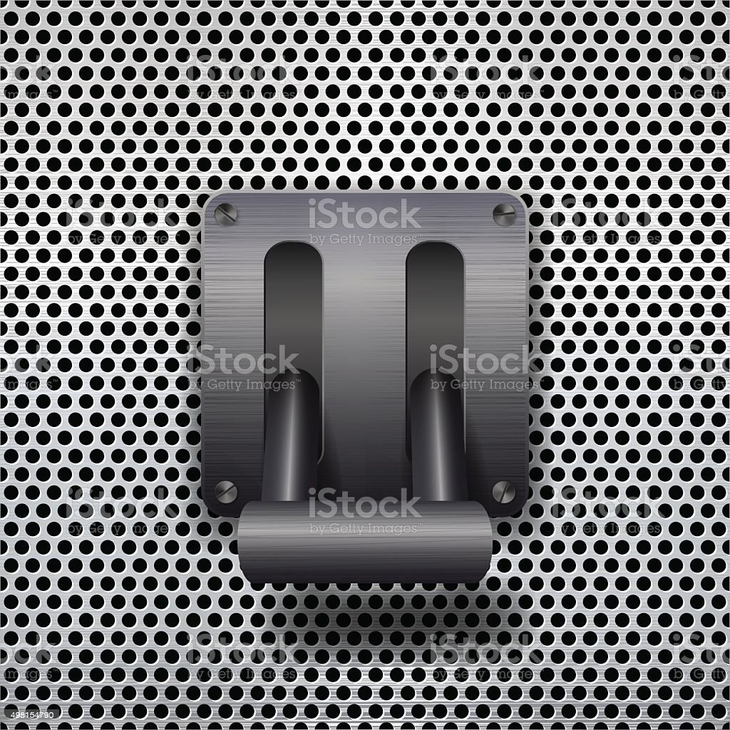 metal toggle switch. vector art illustration