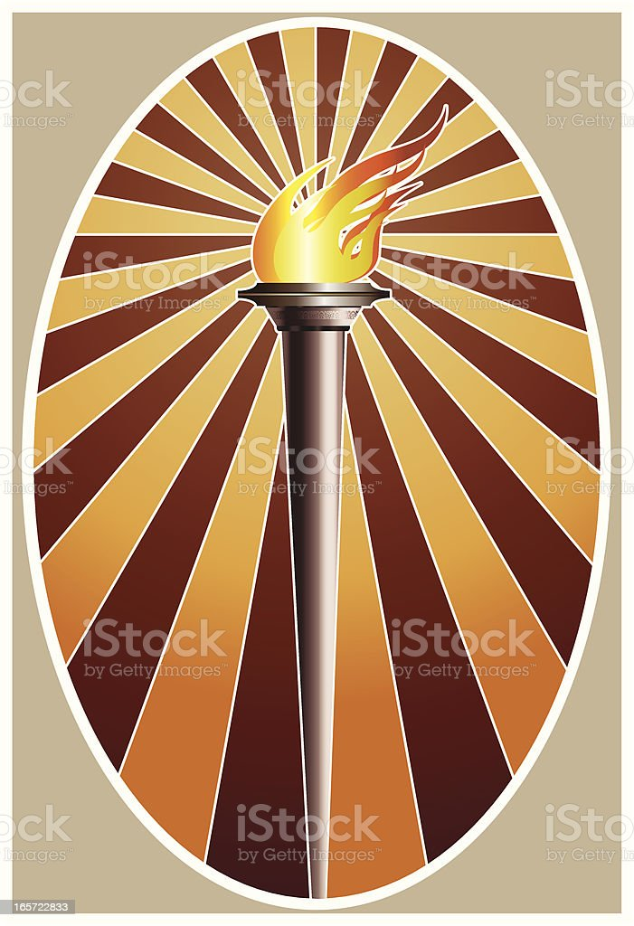 Metal Torch royalty-free stock vector art