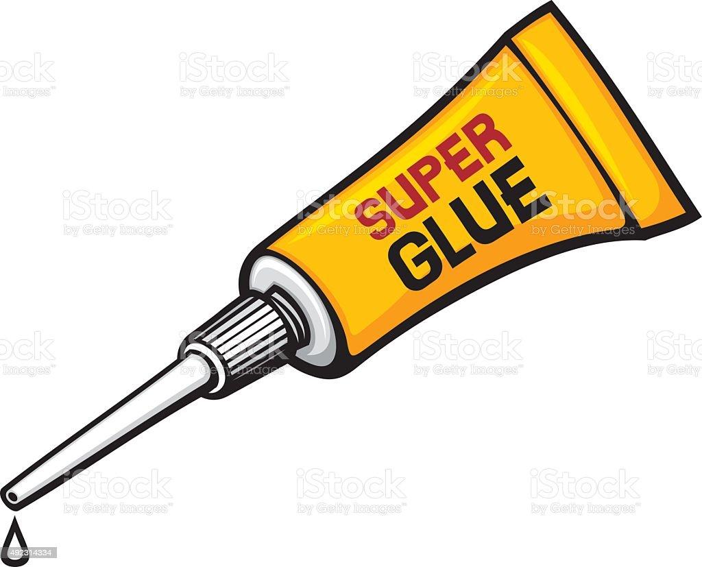 metal tube of super glue - Royalty-free 2015 stock vector