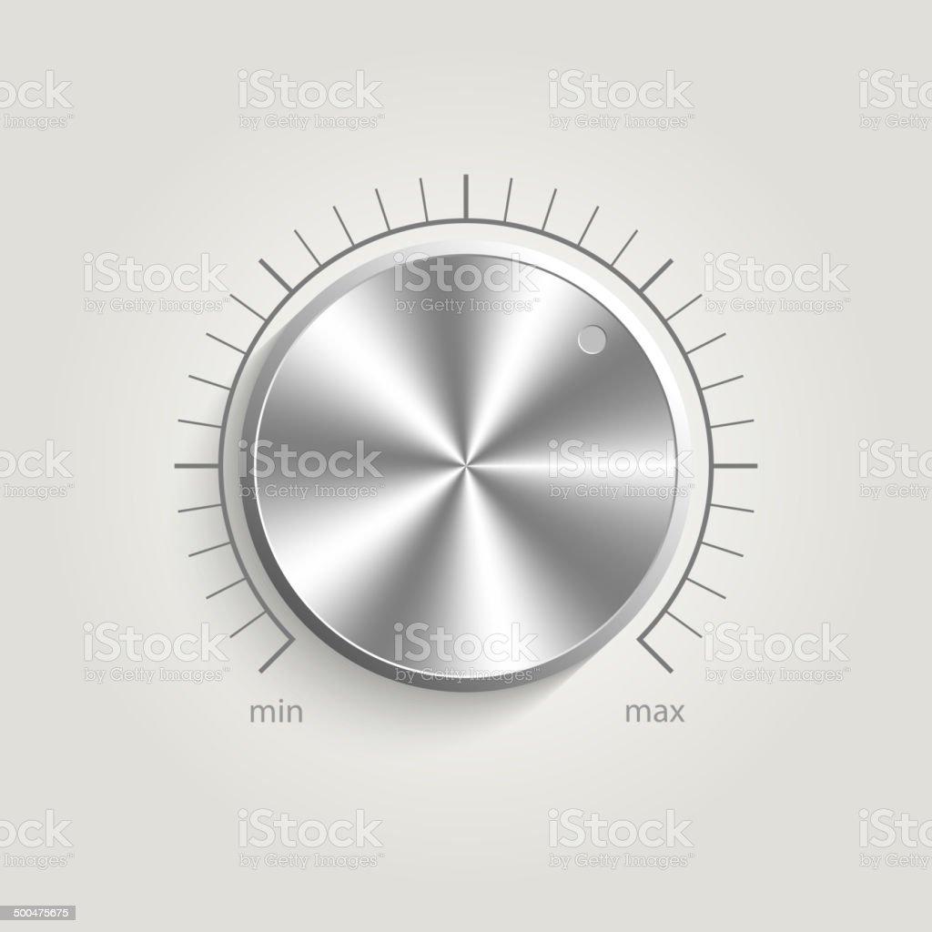 Metal vector volume music control vector art illustration