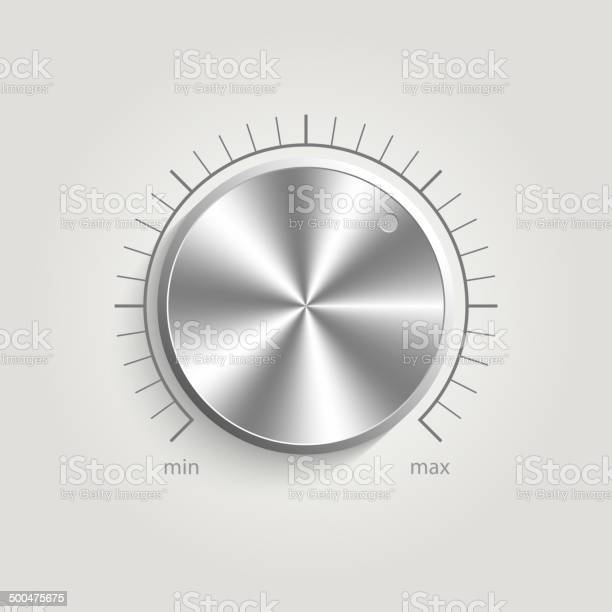 Metal Vector Volume Music Control Stock Illustration - Download Image Now