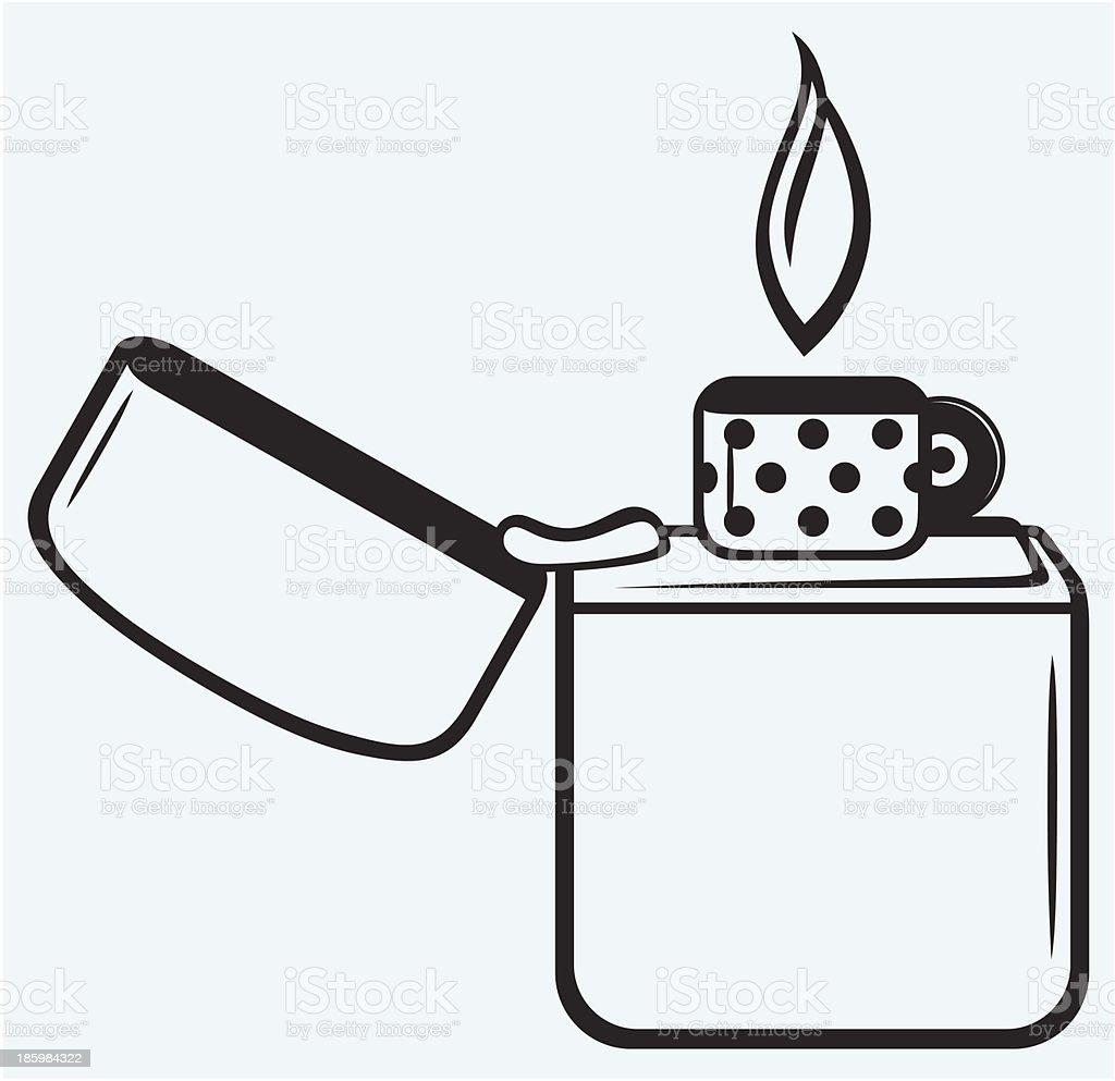Metal Zippo Lighter Stock Vector Art & More Images of Arson ...