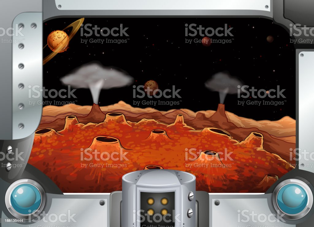 metalframe with the planets royalty-free metalframe with the planets stock vector art & more images of angle