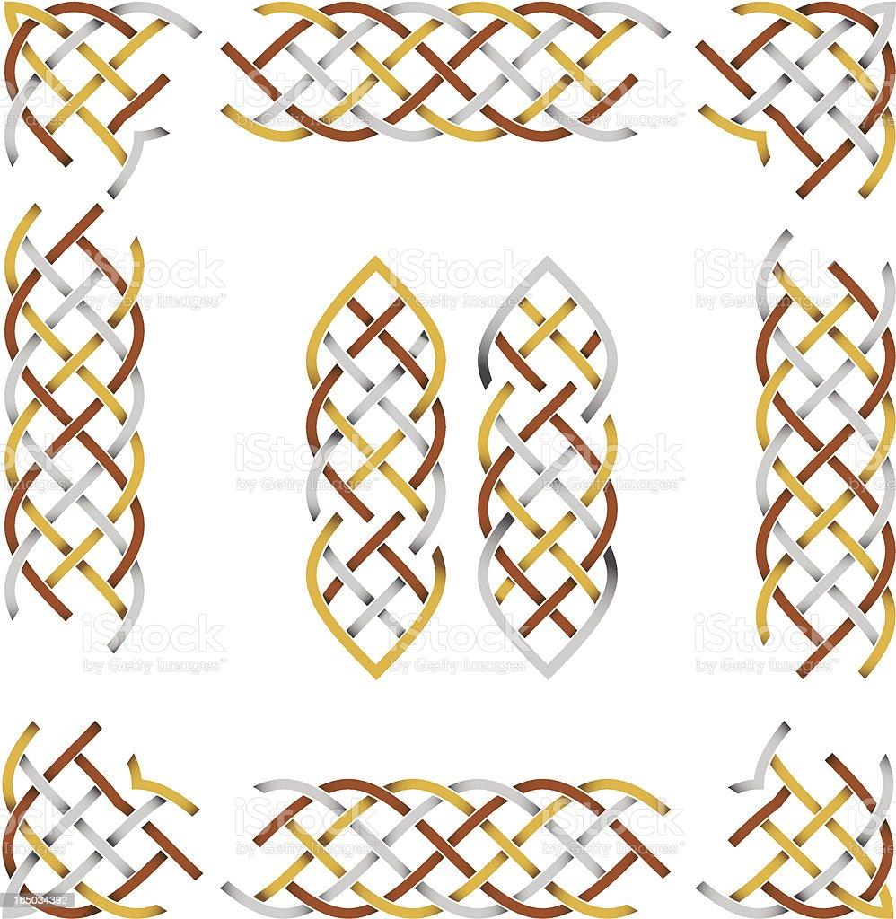 Metalic celtic border (vector & jpeg) vector art illustration