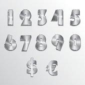 Metallic Alphabet Number