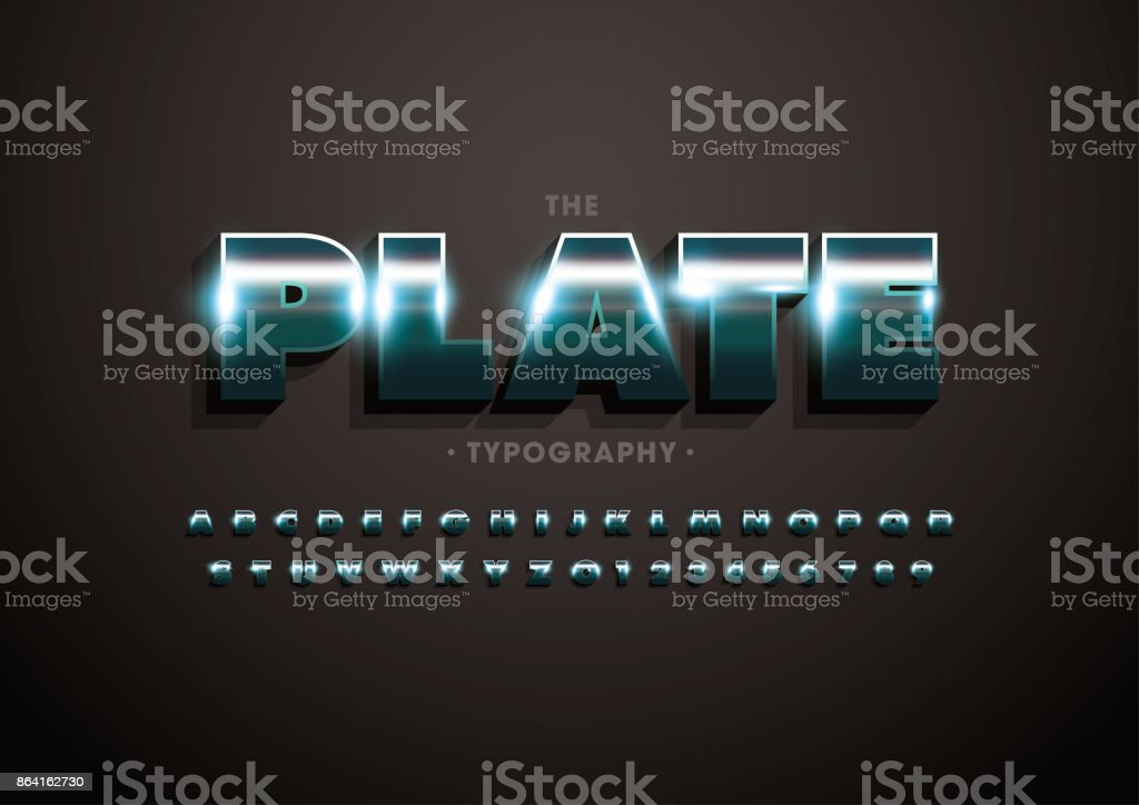 Metallic alphabet royalty-free metallic alphabet stock vector art & more images of abstract