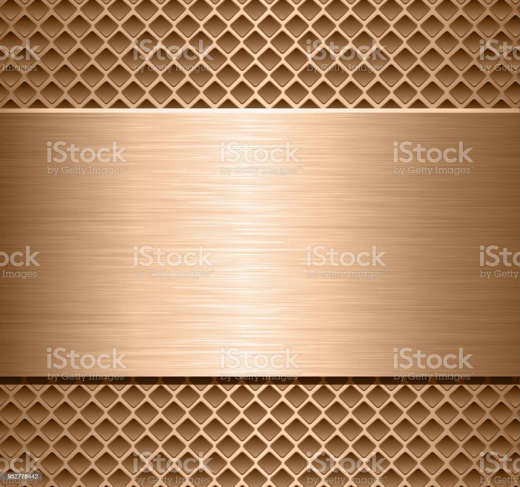 Metallic background texture vector art illustration