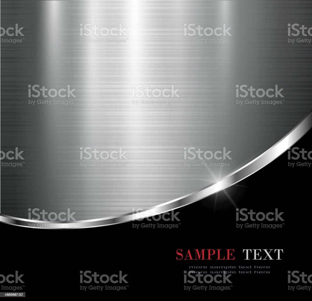 Metallic background vector art illustration