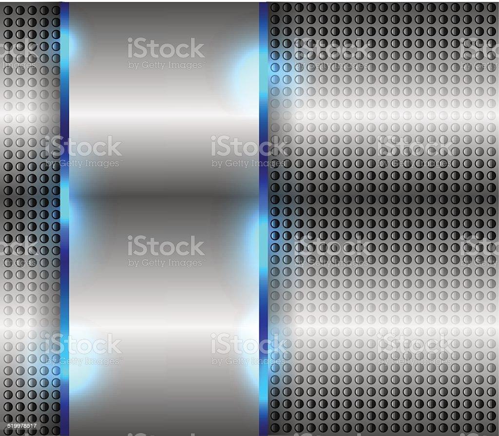 Metallic background vector art illustration