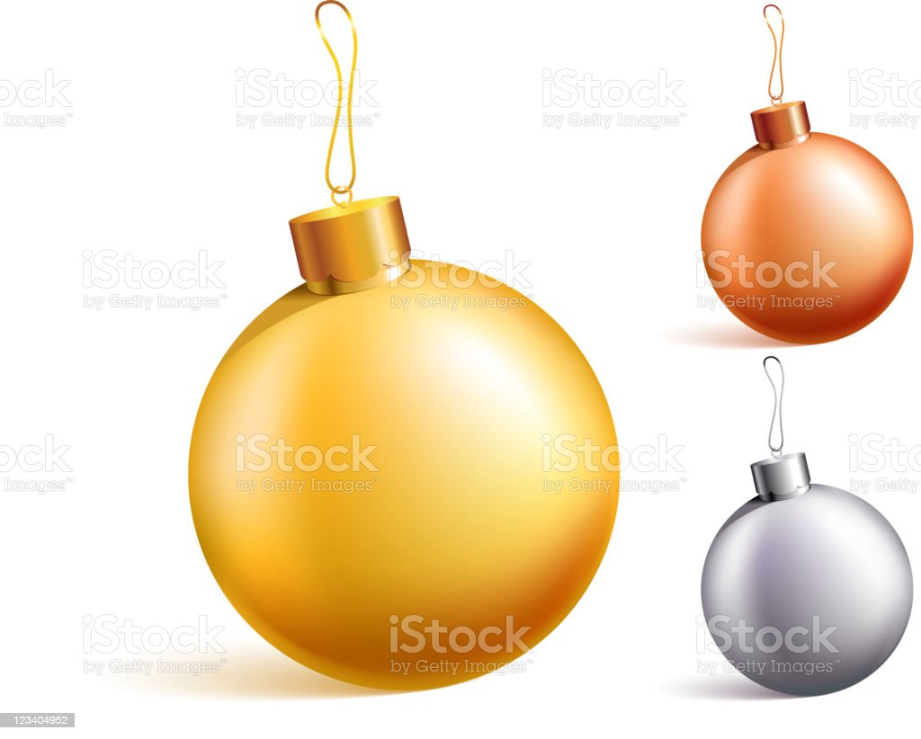 Metallic blank Christmas Ornaments royalty-free stock vector art