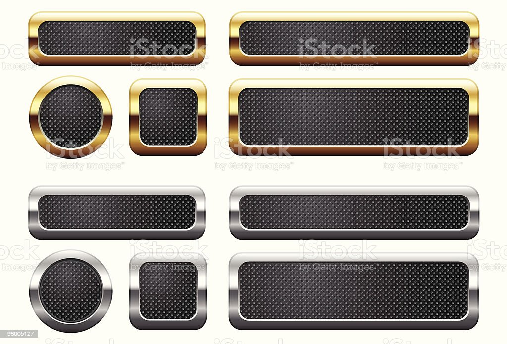 Metallic buttons royalty-free metallic buttons stock vector art & more images of black color
