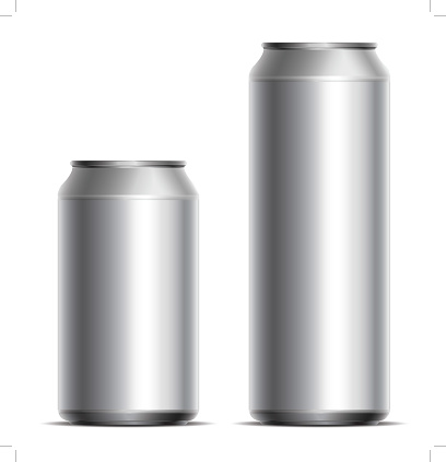 metallic cans