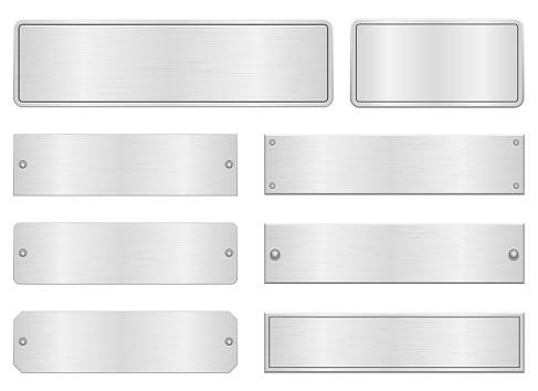 Metallic door plate vector design illustration isolated on white background