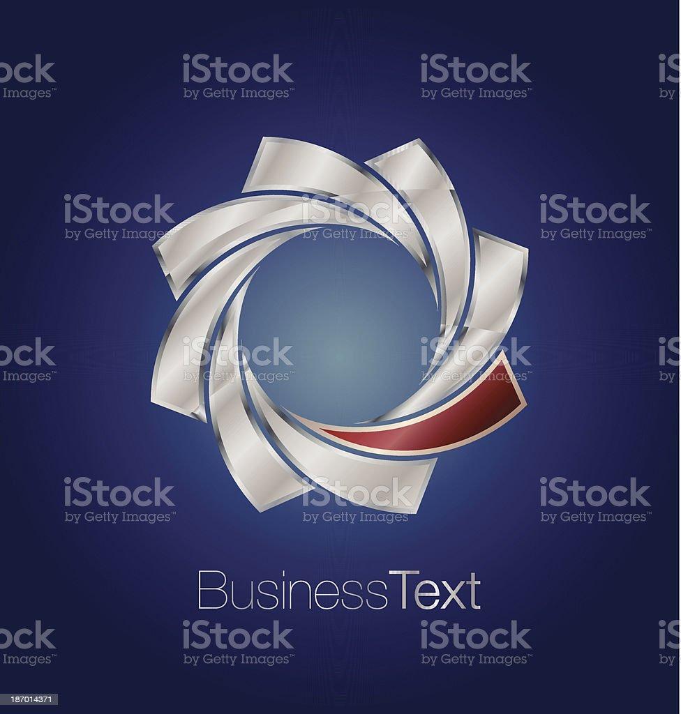 Metallic emblem royalty-free stock vector art