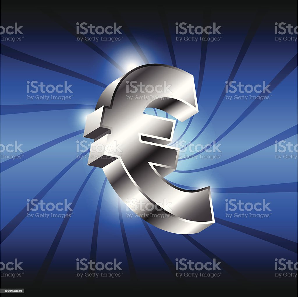 metallic euro money icon royalty-free metallic euro money icon stock vector art & more images of abstract