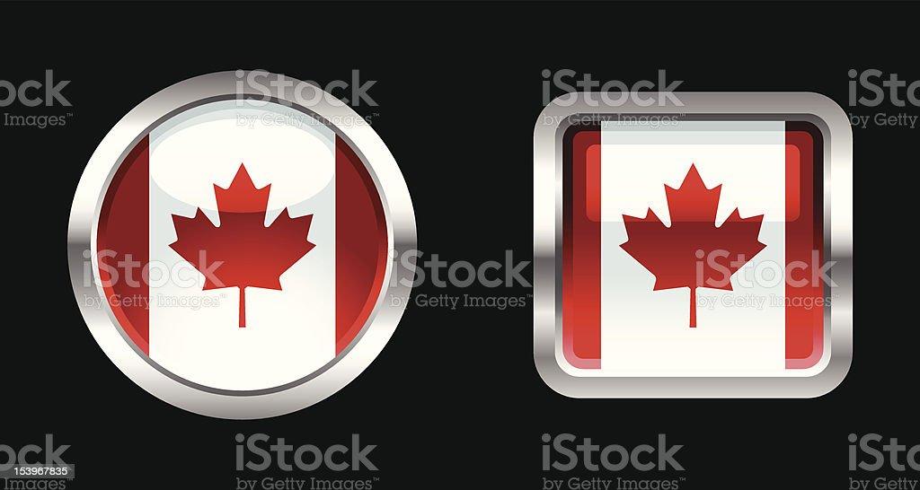 Metallic Glossy Flag   Canada royalty-free stock vector art