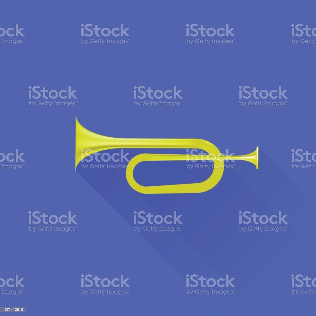 Metallic Horn Icon vector art illustration