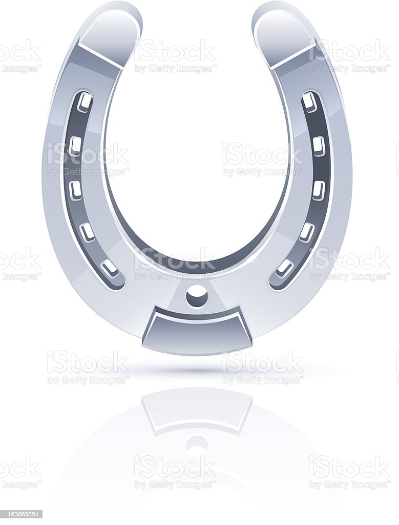 metallic horseshoe as symbol fortune royalty-free stock vector art