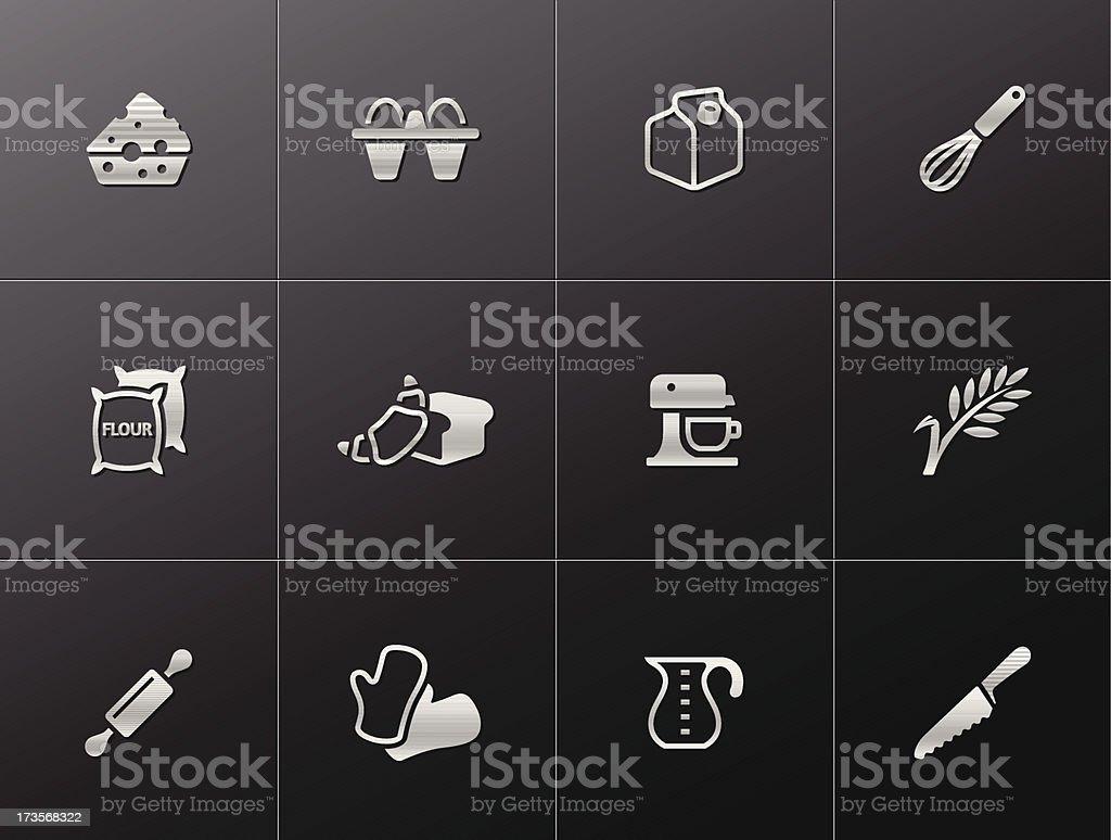 Metallic Icons - Baking royalty-free stock vector art