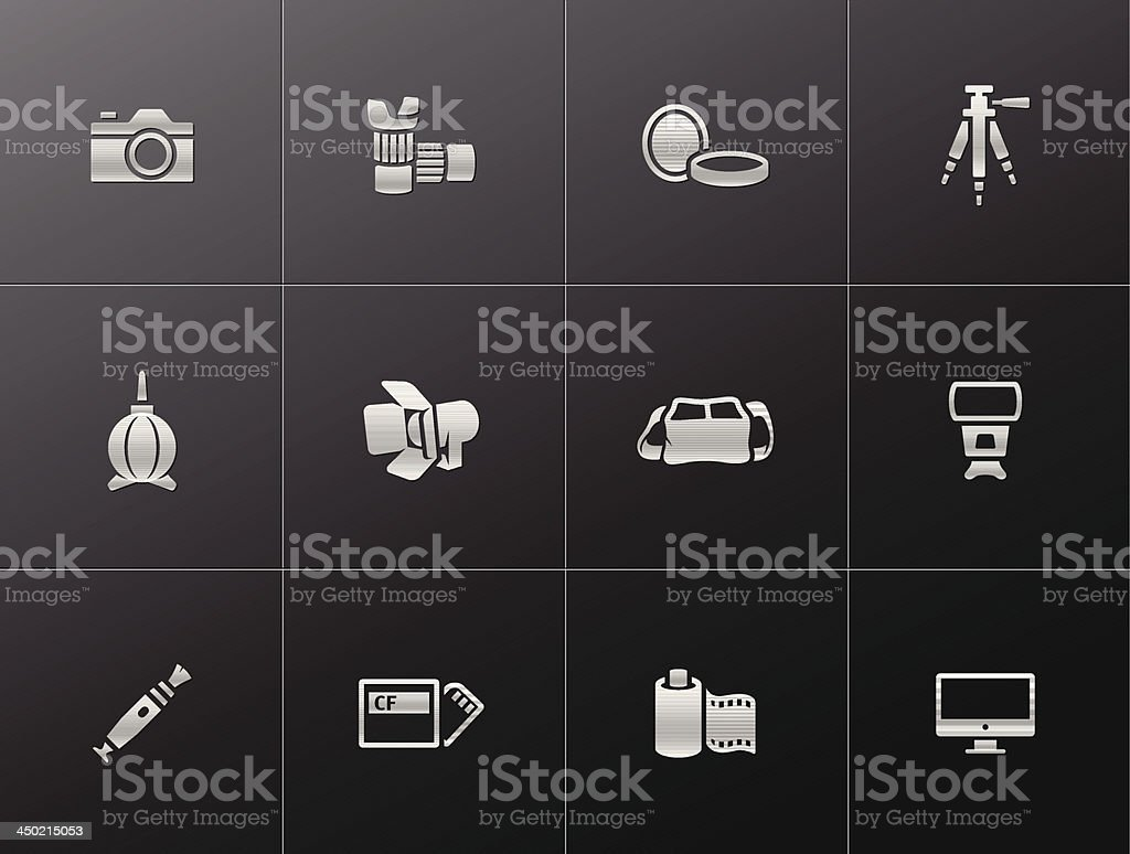 Metallic Icons - Photography royalty-free stock vector art