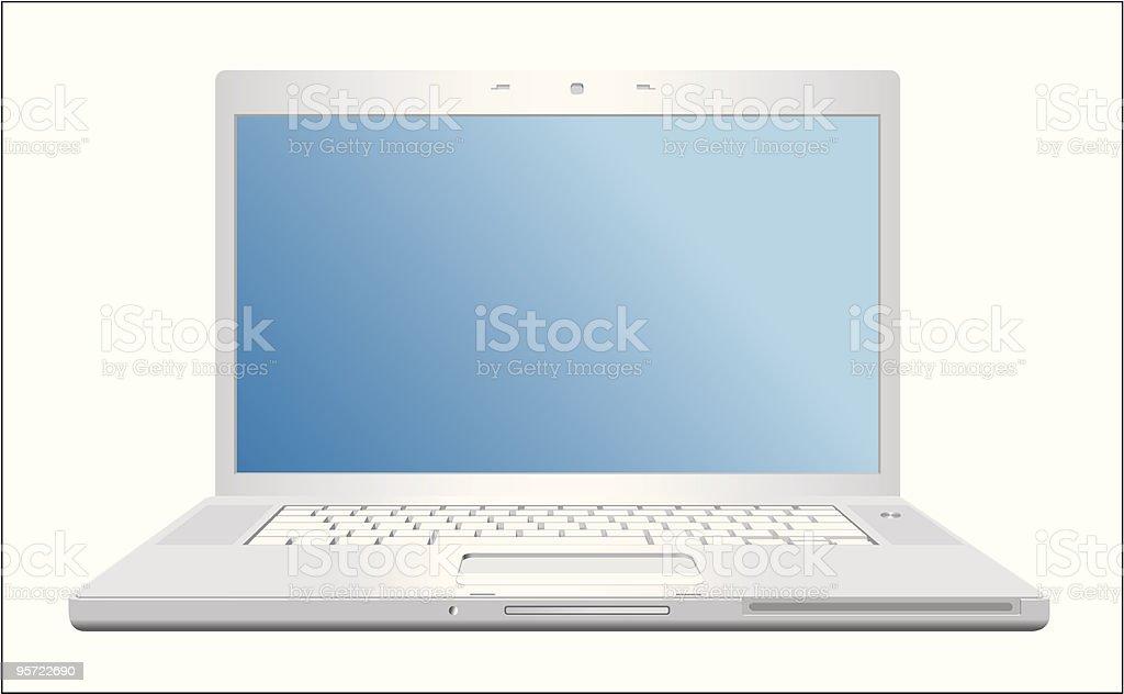 Metallic laptop royalty-free stock vector art