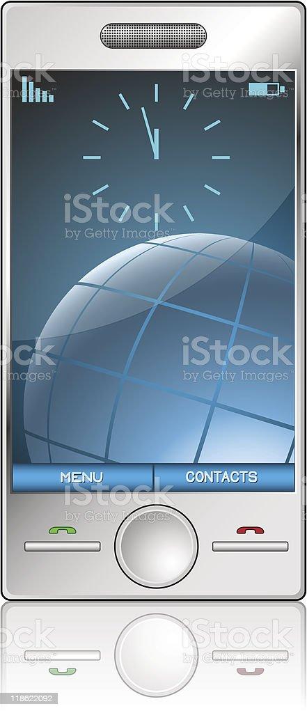 Metallic mobile phone royalty-free metallic mobile phone stock vector art & more images of blue