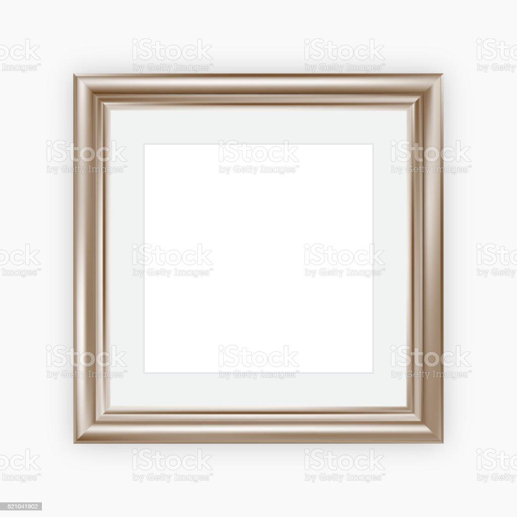 Marco metálico con montaje - ilustración de arte vectorial
