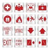 Metallic safety sign set