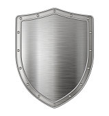 Metallic silver shield