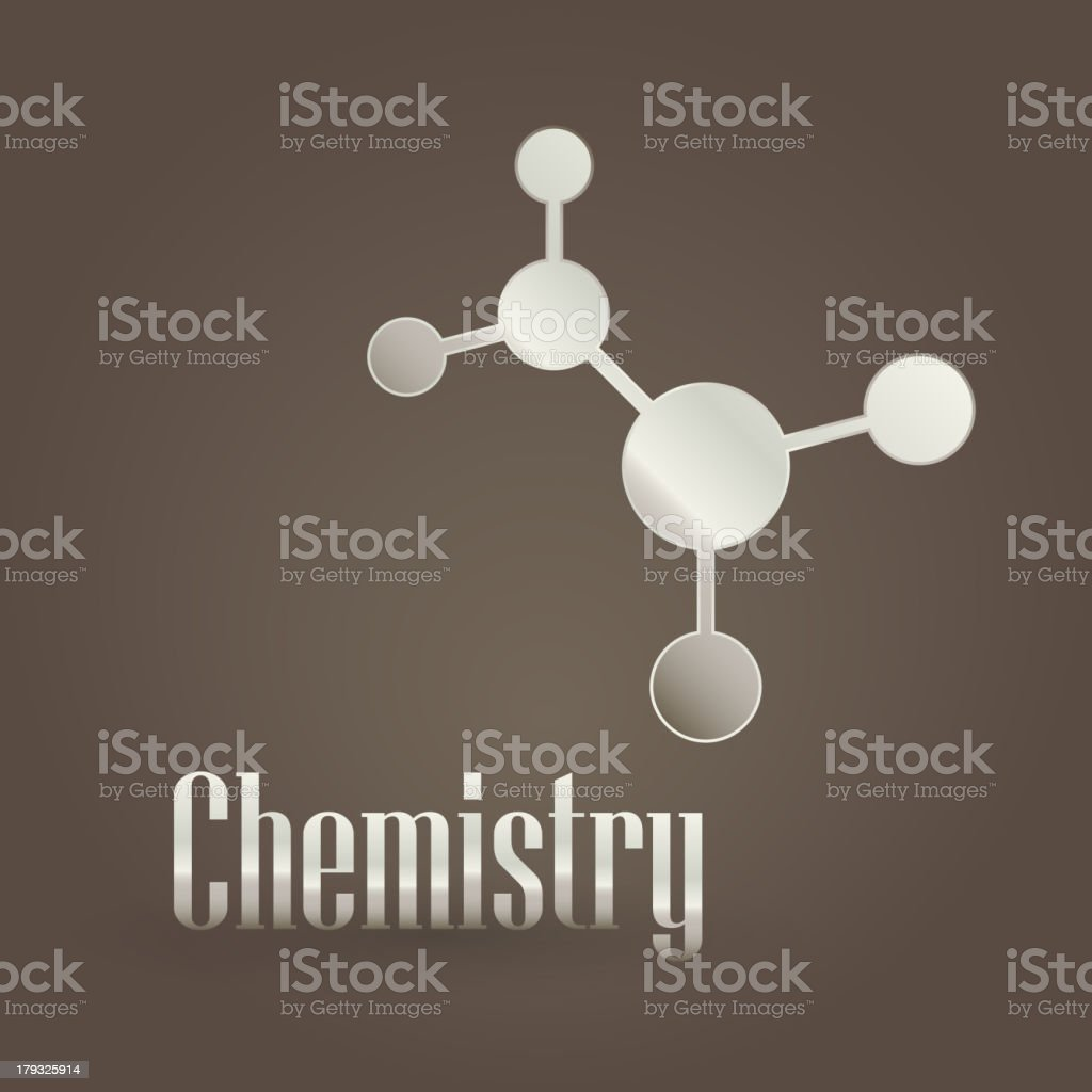 Metallic symbol with chemistry royalty-free stock vector art