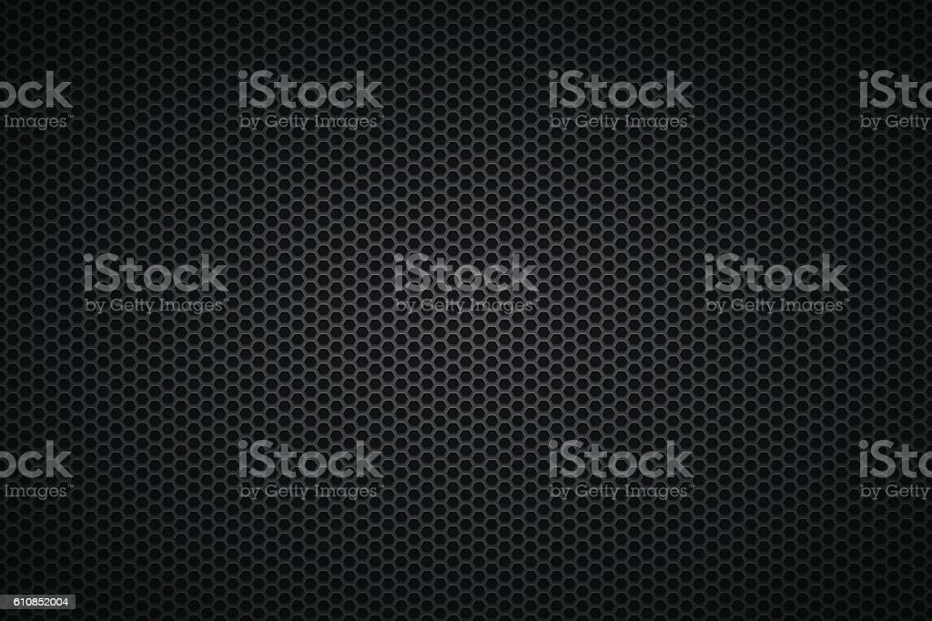 Metallic Texture - Metal Grid on wide Background vector art illustration