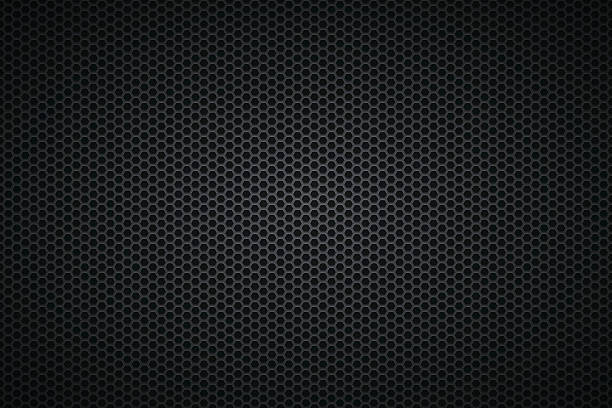 Metallic Texture - Metal Grid on wide Background - Illustration vectorielle