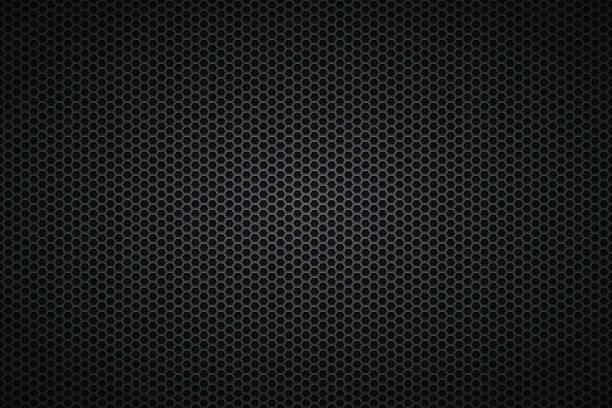 Metallic Texture - Metal Grid on wide Background – Vektorgrafik