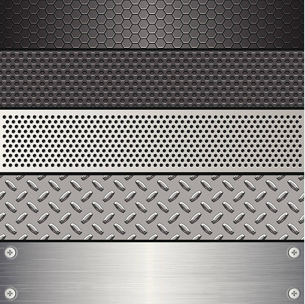 Metallic Texture Set (Pattern) A Metallic Texture Set illustration. All elements are separate. No transparent and mesh layer. Hi-Res jpeg included. Very hight detailed. brushed metal stock illustrations