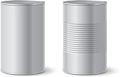Metallic tin can. Vector illustration