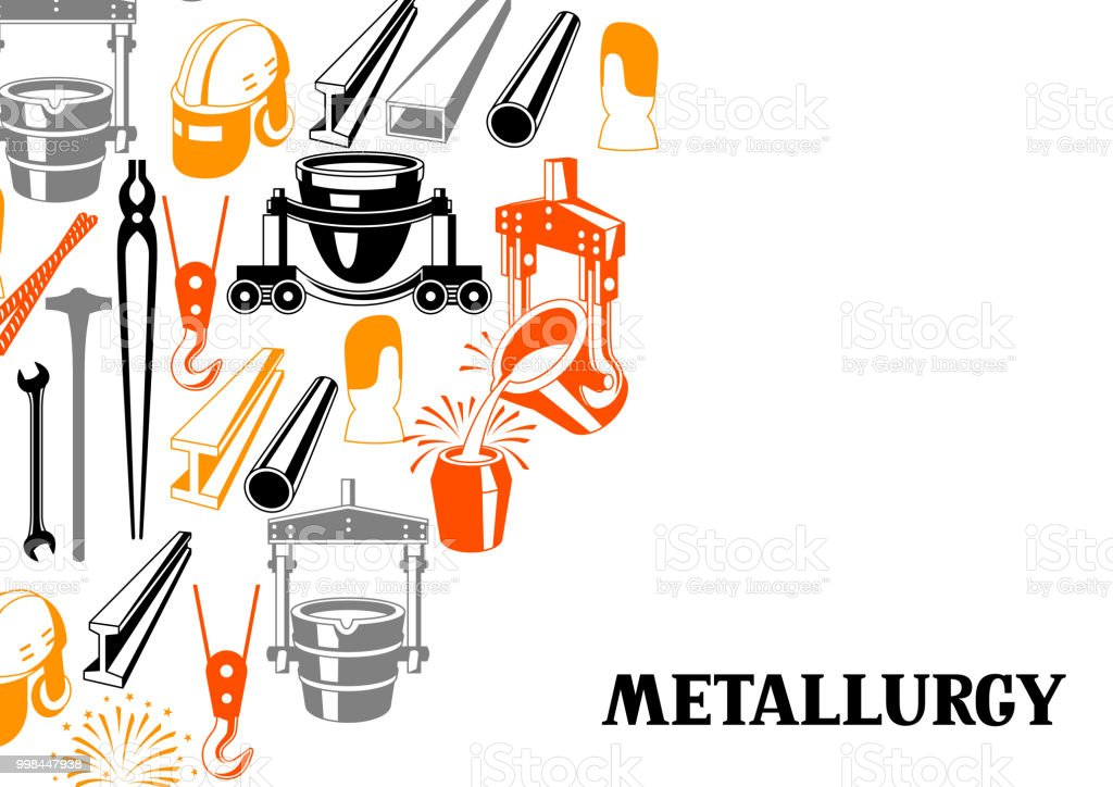 Metallurgical background design