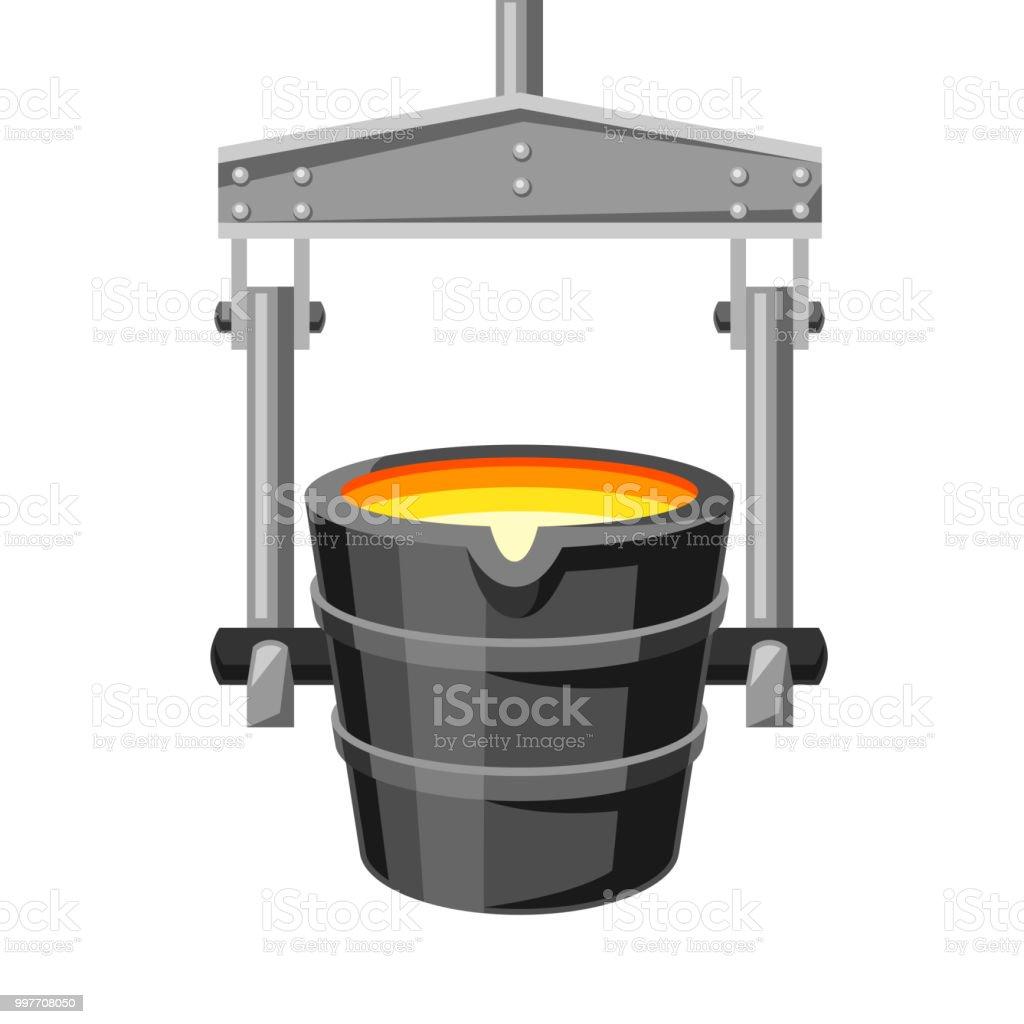 Metallurgical ladle illustration