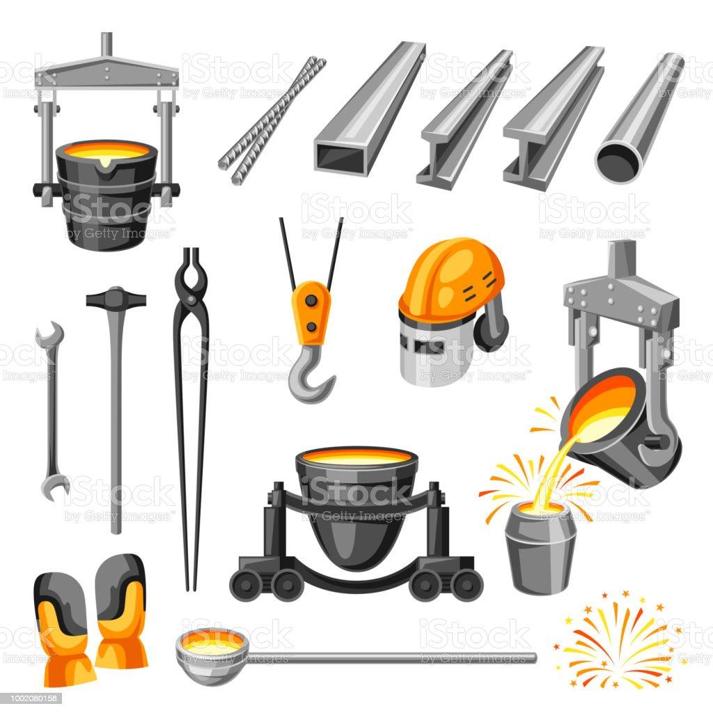 Metallurgical symbols set