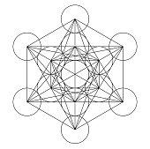 metatron cube geometry holy gold copper platonic