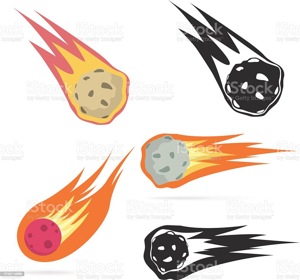 Meteorite vector art illustration