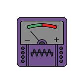 Meter, music, studio icon. Element of color music studio equipment icon. Premium quality graphic design icon. Signs and symbols collection icon
