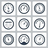 Meters vector icons set #2