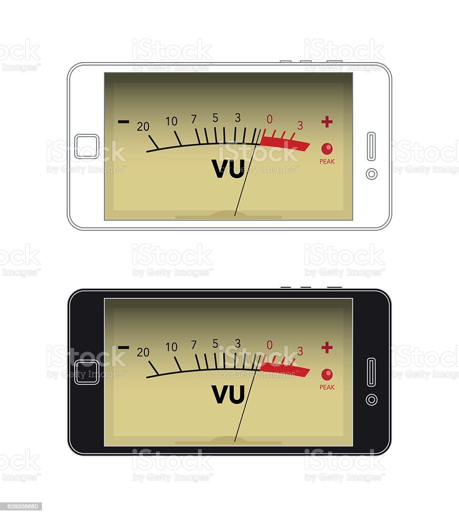 Vu Meter Stock Vector Art More Images Of Backgrounds 639358680 3 Royalty Free Amp