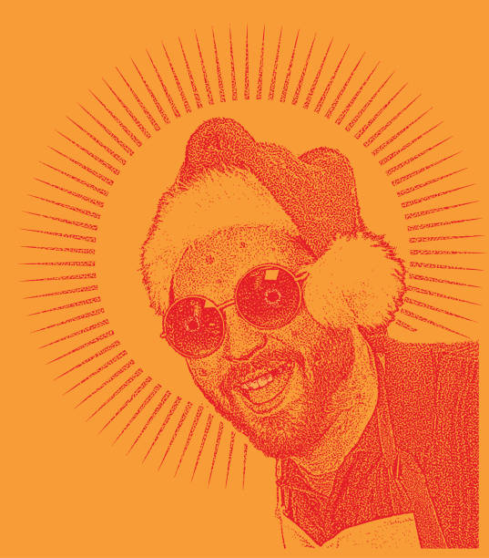 stockillustraties, clipart, cartoons en iconen met meth hoofd santa humoristische illustratie - amfetamine