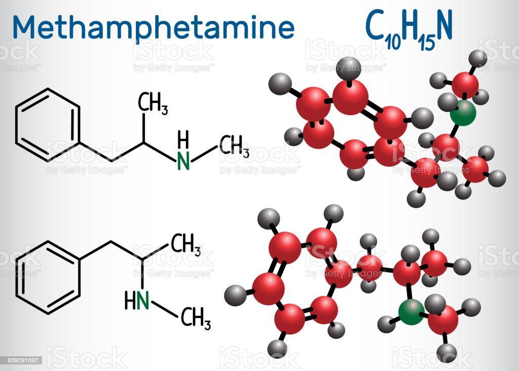 Methamphetamin Molekül Ist Ein Starkes Zentralnervensystem ...