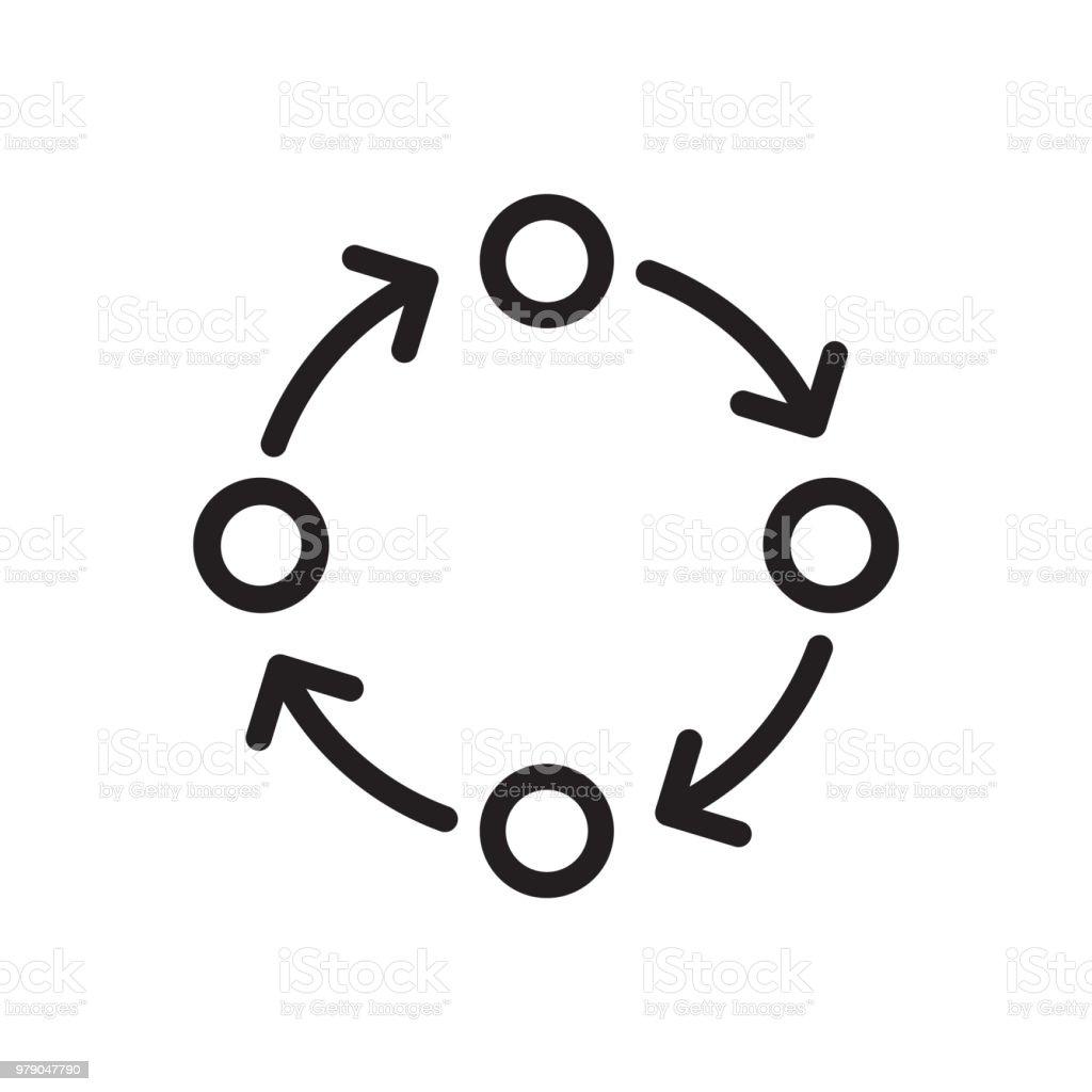 Methodology icon vector art illustration