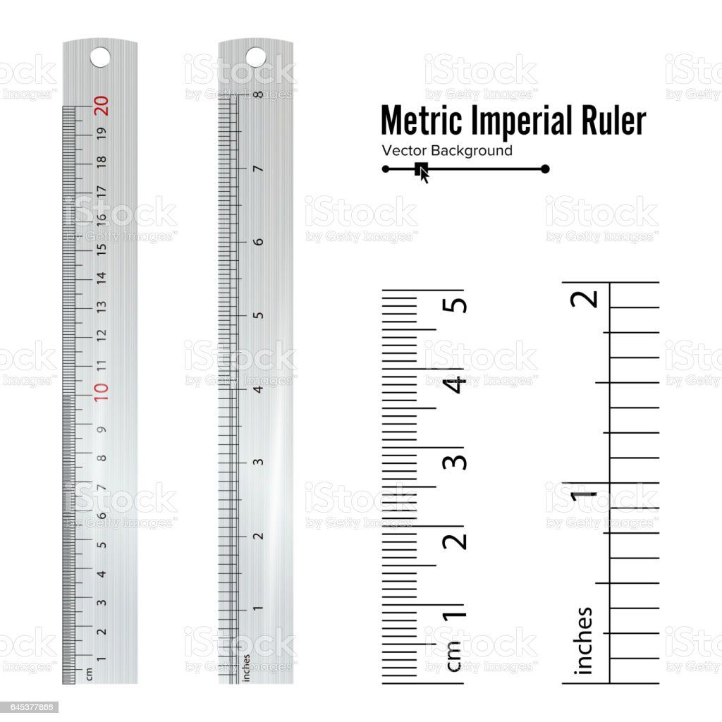 Metric imperial rulers vector centimeter and inch measure tools metric imperial rulers vector centimeter and inch measure tools equipment illustration isolated on white buycottarizona Image collections