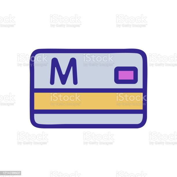 metro card ticket icon vector outline illustration stock illustration -  download image now - istock  istock