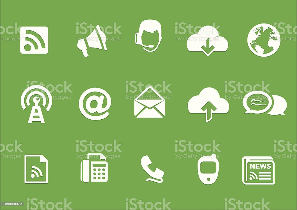 Metro Communication Icons vector art illustration
