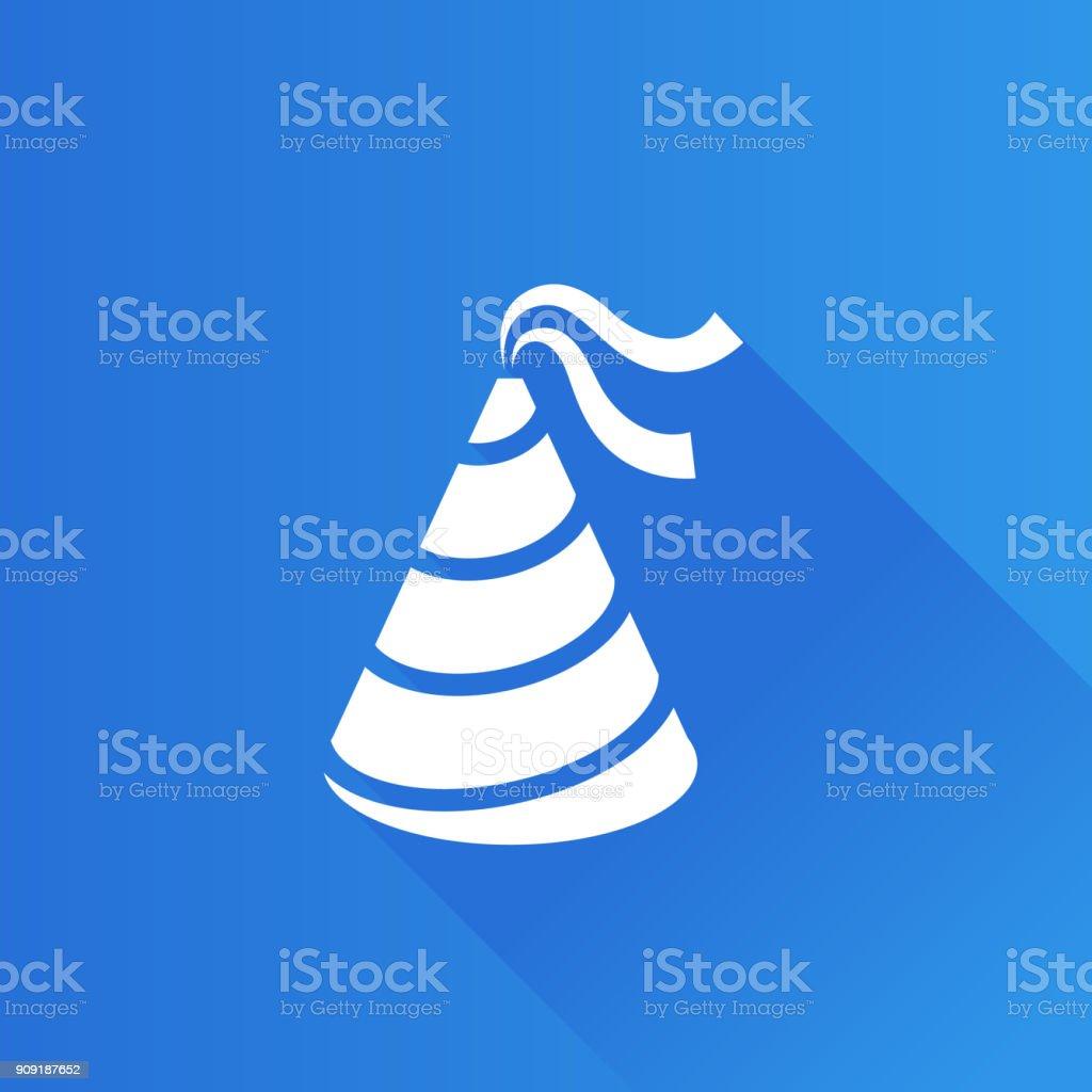 Metro Icon - Birthday hat vector art illustration
